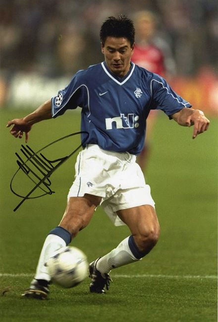 Michael Mols, Rangers & Holland, signed 12x8 inch photo.
